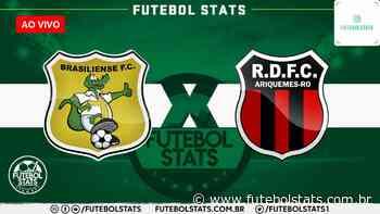 Assistir Brasiliense x Real Ariquemes Futebol AO VIVO – Campeonato Brasileiro Série D 2021 - Futebol Stats