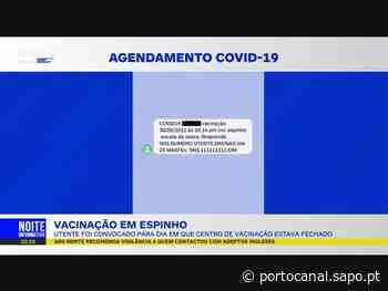 Utente foi convocado em dia que o centro de vacinação de Espinho estava encerrado - Porto Canal