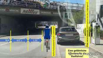 E-Ladesäule gefährlich nah an Radfahrern - Merkur.de