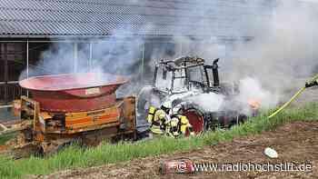Traktor in Steinheim ausgebrannt - Radio Hochstift