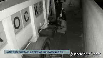 Suspeitos furtam baterias de caminhões em Matozinhos (MG) - HORA 7