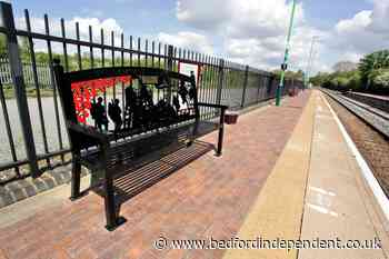 Captain Sir Tom Moore memorial bench at Millbrook Station unveiled - Bedford Independent