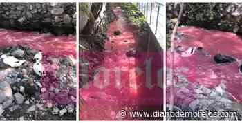 Vuelven aguas rojas a contaminar barrancas de Cuernavaca; acusan a industria de hacerlo - Diario de Morelos