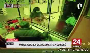 Mujer golpea salvajemente a su bebé en Huancayo - Panamericana Televisión