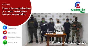 Policía y ejército capturan a cuatro personas en Betulia - ConexionSur