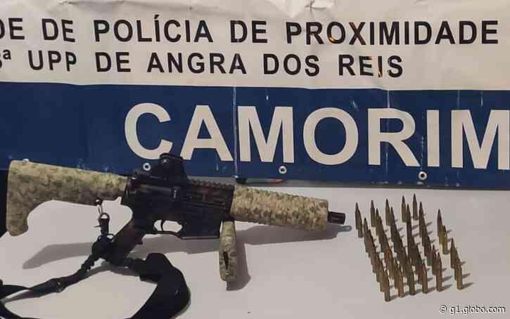 Fuzil e munições são apreendidos dentro de carro em Angra dos Reis - G1