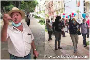 """Joven cubano grita """"¡Abajo la dictadura!"""" y es atacado por castristas de España - Periódico Cubano"""