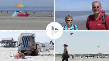 Tourismus in SH: Video: Urlauber genießen Sommer-Wetter in Sankt Peter-Ording   shz.de - shz.de