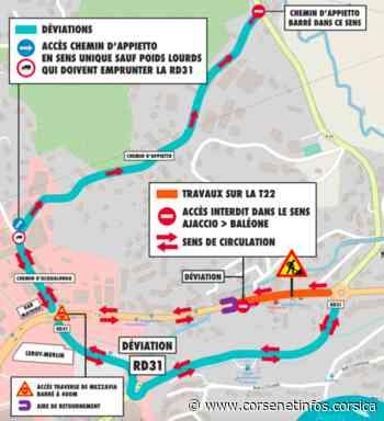 Ajaccio : changement de sens de circulation dans la traversée de Mezzavia | Brèves - Corse Net Infos