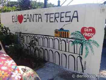 Pinturas artísticas em postes e muros colorem as ruas de Santa Teresa - Diário do Rio de Janeiro