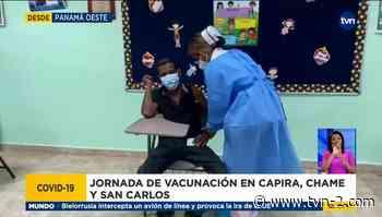 Inicia jornada de segunda dosis de vacuna anticovid en Capira, Chame y San Carlos - TVN Panamá