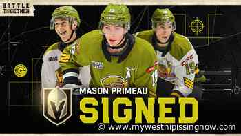 Troops forward signs with Vegas - My West Nipissing Now