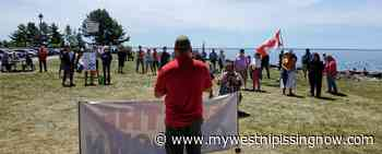 """70 attend """"Freedom Rally"""" at North Bay waterfront - My West Nipissing Now"""