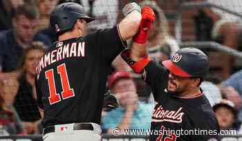 Nationals overcome Strasburg's early exit, beat Braves 11-6