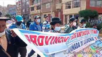 Pobladores de Sandia y San Antonio de Putina se movilizaron en el centro de la ciudad de Puno - Radio Onda Azul