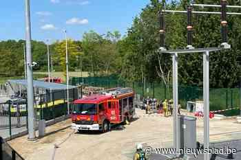Brandweer blust onzichtbare brand in hoogspanningsstation El... (Mortsel) - Het Nieuwsblad