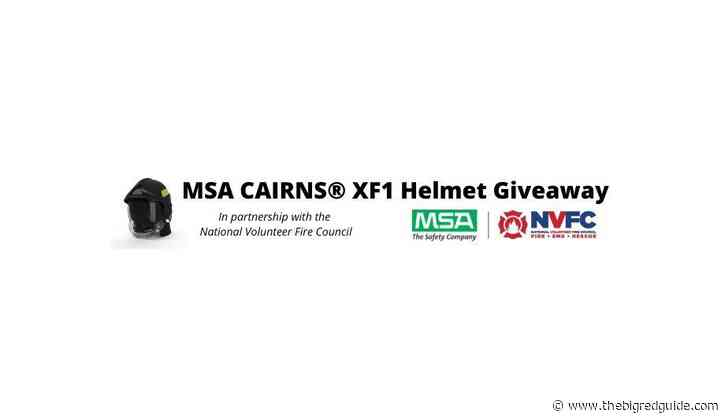 MSA To Provide A Personalized Cairns XF1 Fire Helmet To NVFC Member Through A Giveaway