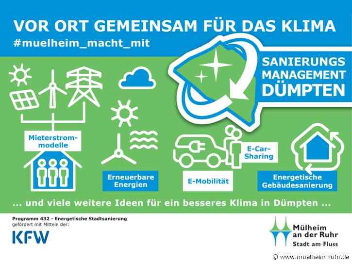 Wöchentliche Energiesprechstunde für Bürger*innen beim Sanierungsmanagement Dümpten