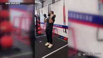 Medford gym co-owner Mark Wahlberg stops by for workout - Boston News, Weather, Sports   WHDH 7News