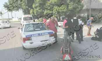Motociclista se impacta contra taxi en carretera Poza Rica -Coatzintla - NORESTE