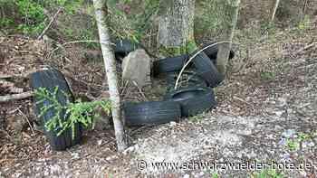 Mehrere Fälle in Schömberg - Reifen einfach in den Wäldern entsorgt - Schwarzwälder Bote