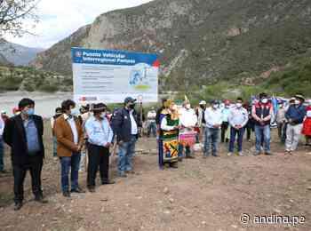 Inician la construcción del puente Pampas que unirá Ayacucho y Apurímac - Agencia Andina