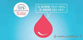 Don du sang – Lundi 3 mai Centre de loisirs - Unidivers