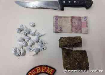 Dupla é presa por tráfico de drogas após denúncia anônima em Murici Os militares chegaram ao - BR 104
