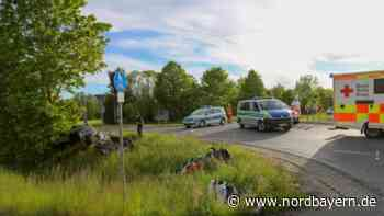Geisterfahrer im Kreisverkehr: Biker wird schwer verletzt ins Klinikum geflogen - Nordbayern.de