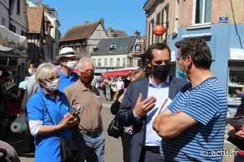 Eure. Élections régionales : Nicolas Bay (RN) en campagne à Gaillon - actu.fr