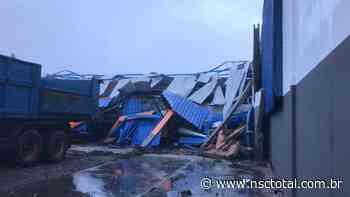 Vídeo mostra tornado que atingiu oficina em Campos Novos; veja imagens - NSC Total