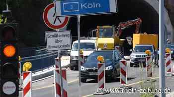 Erneute Vollsperrung auf der B 417: Fahrbahn am Tunnelportal in Diez wird präpariert - Rhein-Zeitung