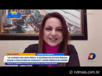 """Prefeita de Itapema: """"Governo do estado precisa baixar a faixa etária da vacinação"""" - ND Mais"""