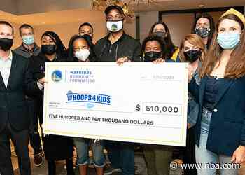 Warriors Hoops For Kids, Presented by Salesforce, Donates $524,000 to Bay Area Youth
