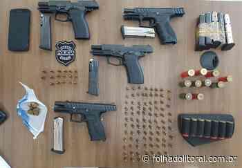 PCPR apreende quatro pistolas durante operação deflagrada em Matinhos - Folha do Litoral News