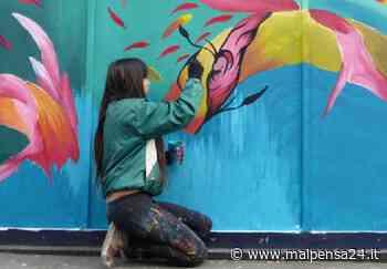 I ragazzi di Magnago Street in azione per realizzare un murale al campo sportivo - malpensa24.it