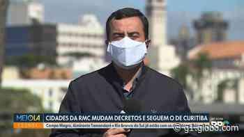 Campo Magro, Almirante Tamandaré e Rio Branco do Sul alteram decretos e começam a seguir restrições de Curitiba - G1