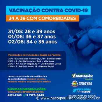 Pirapora do Bom Jesus promove vacinação contra a Covid-19 para pessoas com comorbidades - Portal Oeste Paulista