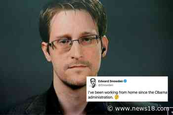 Hate Zoom Calls? Edward Snowden Has Been Working from Home Since 2013 - News18