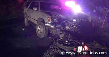 Dos lesionados tras fuerte accidente en carretera a Suchitoto - Solo Noticias