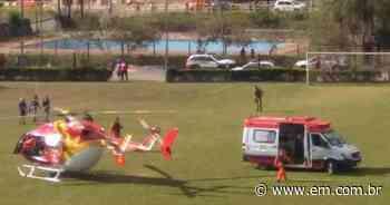 Homem atropelado por trem em Sarzedo está em estado grave - Estado de Minas