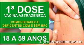 Coromandel vacinará, na próxima semana, deficientes e pessoas com comorbidades acima de 18 anos - Jornal de Coromandel