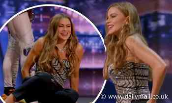 Sofia Vergara tries and FAILS to crack a walnut with her buttocks on America's Got Talent - Daily Mail