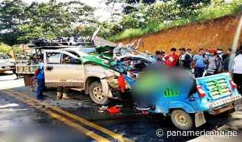 Tres muertos y dos heridos dejó violento choque en Satipo - Panamericana Televisión
