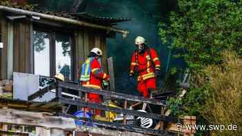 Brand Geislingen: Gartenhütte droht abzubrennen - SWP