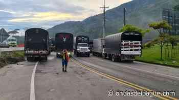 Continúa el cierre total en la vía Cajamarca – Calarcá por paro de transportadores - Emisora Ondas de Ibagué, 1470 AM