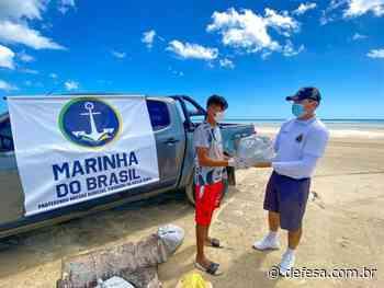 AgCamocim entrega 200 quilos de alimentos e atende comunidade pesqueira da Praia Nova, Barroquinha (CE) - Defesa - Agência de Notícias