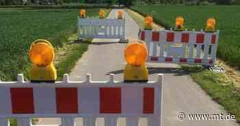 Autofahrer nutzen Weserradweg als Umleitung: Kreis stellt Umlaufsperren auf - Mindener Tageblatt