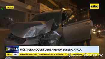 Choque múltiple sobre Avda. Eusebio Ayala deja varios daños materiales - Nacionales - ABC Color