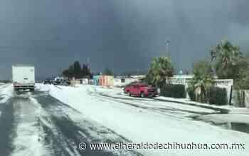 Granizo no causó daños en Santa Isabel - El Heraldo de Chihuahua